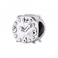 Alarm Clock - 925 Sterling Silver Beads without stones A4S29550