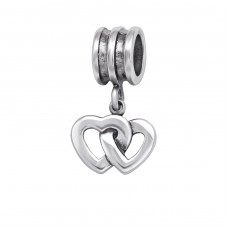 Heart - 925 Sterling Silver Beads without stones A4S29551