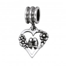 Heart - 925 Sterling Silver Beads without stones A4S29552
