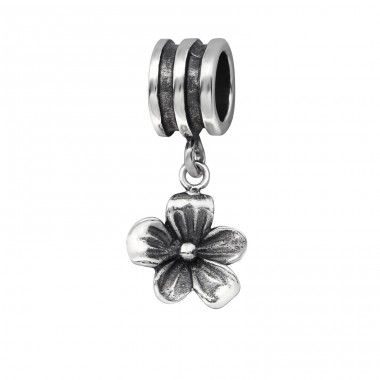 Flower - 925 Sterling Silver Beads without stones A4S29558
