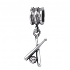 Baseball Bat - 925 Sterling Silver Beads without stones A4S29561