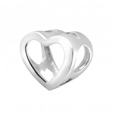 Heart - 925 Sterling Silver Beads without stones A4S3058