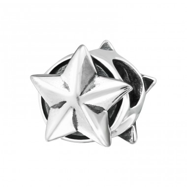 Star - 925 Sterling Silver Beads without stones A4S3233