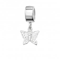 Hanging Butterfly - 925 Sterling Silver Beads without stones A4S3813