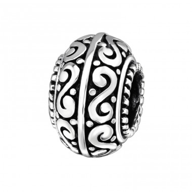 Round - 925 Sterling Silver Beads without stones A4S4167