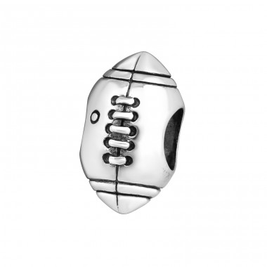 Rugby - 925 Sterling Silver Beads without stones A4S4224