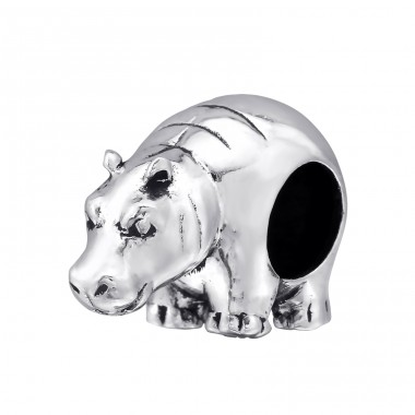 Rhinoceros - 925 Sterling Silver Beads without stones A4S4372