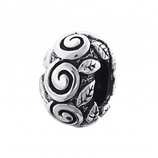 Round - 925 Sterling Silver Beads without stones A4S4392