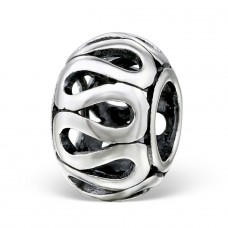 Round - 925 Sterling Silver Beads without stones A4S4393
