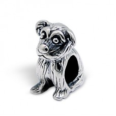 Dog - 925 Sterling Silver Beads without stones A4S4480