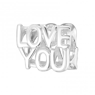 Love You - 925 Sterling Silver Beads without stones A4S4753