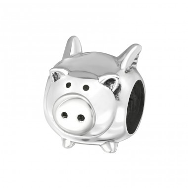 Pig - 925 Sterling Silver Beads without stones A4S5447