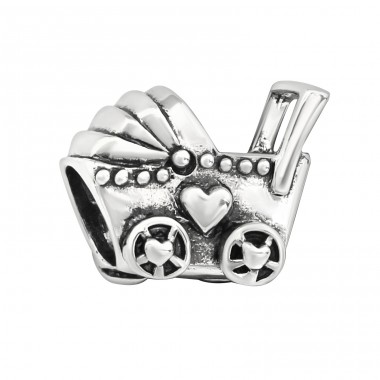 Baby Carriage - 925 Sterling Silver Beads without stones A4S5597