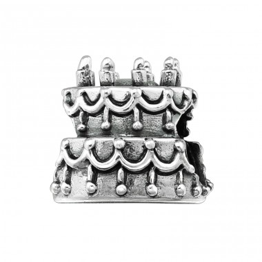 Cake - 925 Sterling Silver Beads without stones A4S5598