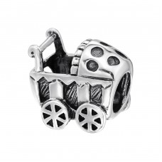 Baby Carriage - 925 Sterling Silver Beads without stones A4S5603