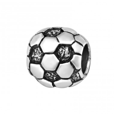 Football - 925 Sterling Silver Beads without stones A4S5732