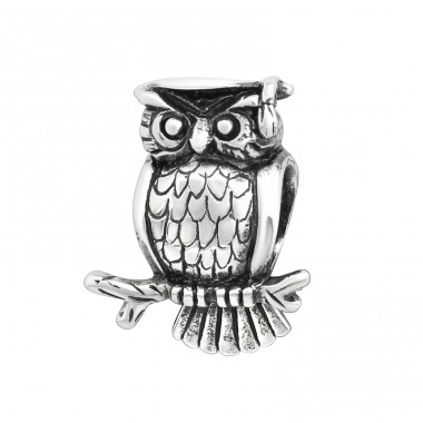 Owl - 925 Sterling Silver Beads without stones A4S5734