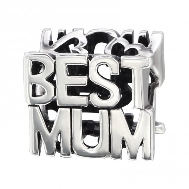 Best Mum - 925 Sterling Silver Beads without stones A4S6404