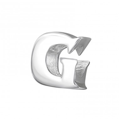 Initial G - 925 Sterling Silver Beads without stones A4S6520