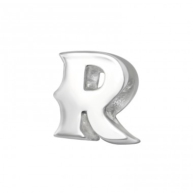 Initial R - 925 Sterling Silver Beads without stones A4S6531