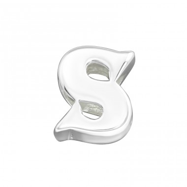 Letter S - 925 Sterling Silver Beads Without Stones A4S6532