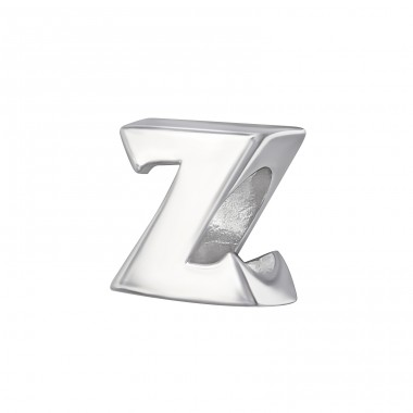 Letter Z - 925 Sterling Silver Beads without stones A4S6539