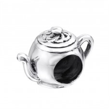 Teapot - 925 Sterling Silver Beads without stones A4S6919