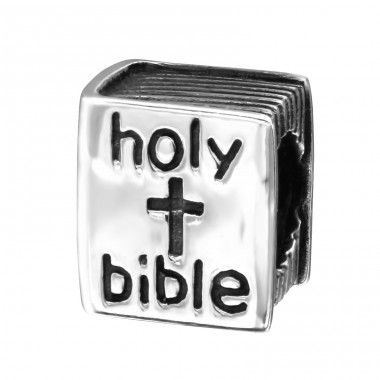 Bible - 925 Sterling Silver Beads without stones A4S7408