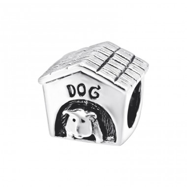 Dog Cage - 925 Sterling Silver Beads without stones A4S7410