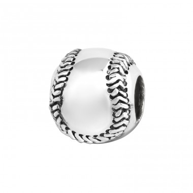 Baseball - 925 Sterling Silver Beads without stones A4S9329