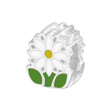 Flower - 925 Sterling Silver Beads without stones A4S9333