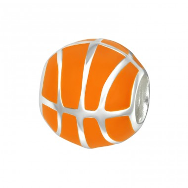 Basketball - 925 Sterling Silver Beads without stones A4S9518