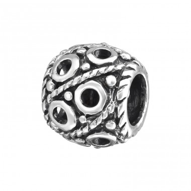 Round - 925 Sterling Silver Beads without stones A4S9625