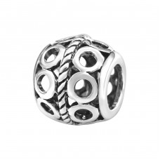 Round - 925 Sterling Silver Beads without stones A4S9627