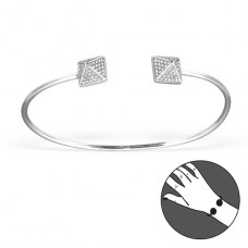 Square - 925 Sterling Silver Bangles A4S21492