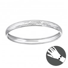 Round - 925 Sterling Silver Bangles A4S22448