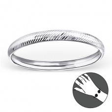 Round - 925 Sterling Silver Bangles A4S22450