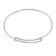 Adjustable Charm - 925 Sterling Silver Bangles A4S30556