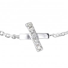 Cross - 925 Sterling Silver Bracelets with silver chain A4S16704