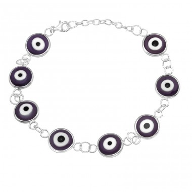Evil Eye - 925 Sterling Silver Bracelets with silver chain A4S16744