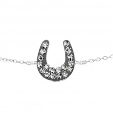 Horseshoe - 925 Sterling Silver Bracelets with silver chain A4S18592