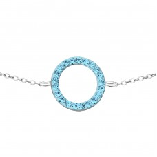 Circle - 925 Sterling Silver Bracelets with silver chain A4S18593