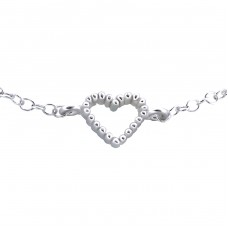 Heart - 925 Sterling Silver Bracelets with silver chain A4S18615