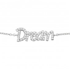 Dream Inline - 925 Sterling Silver Bracelets with silver chain A4S18625