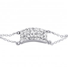 Bridge - 925 Sterling Silver Bracelets with silver chain A4S18634