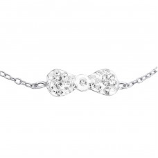 Tie Bow - 925 Sterling Silver Bracelets with silver chain A4S19260