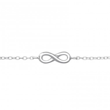 Infinity - 925 Sterling Silver Bracelets with silver chain A4S19262