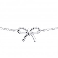 Bow Inline - 925 Sterling Silver Bracelets with silver chain A4S20452