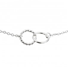 Round Inline - 925 Sterling Silver Bracelets with silver chain A4S21746