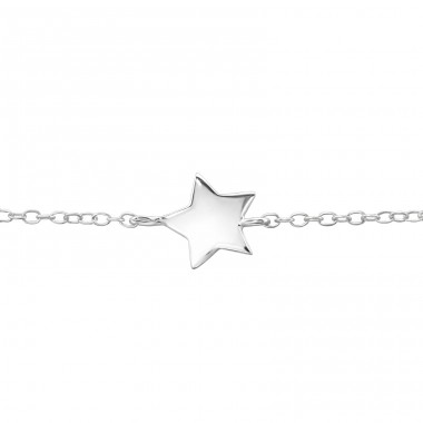 Star Inline - 925 Sterling Silver Bracelets with silver chain A4S22620